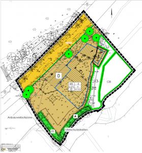 Planzeichnung BPlan 3.06 Am Wiedenhof