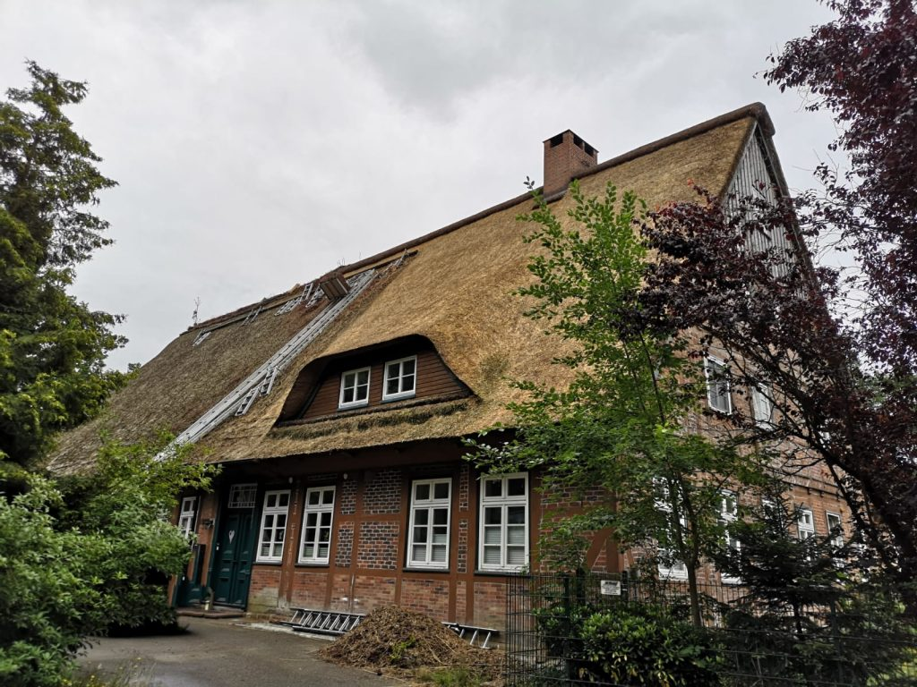 Reetdach Erneuerung am denkmalgeschützten Wiedenhof