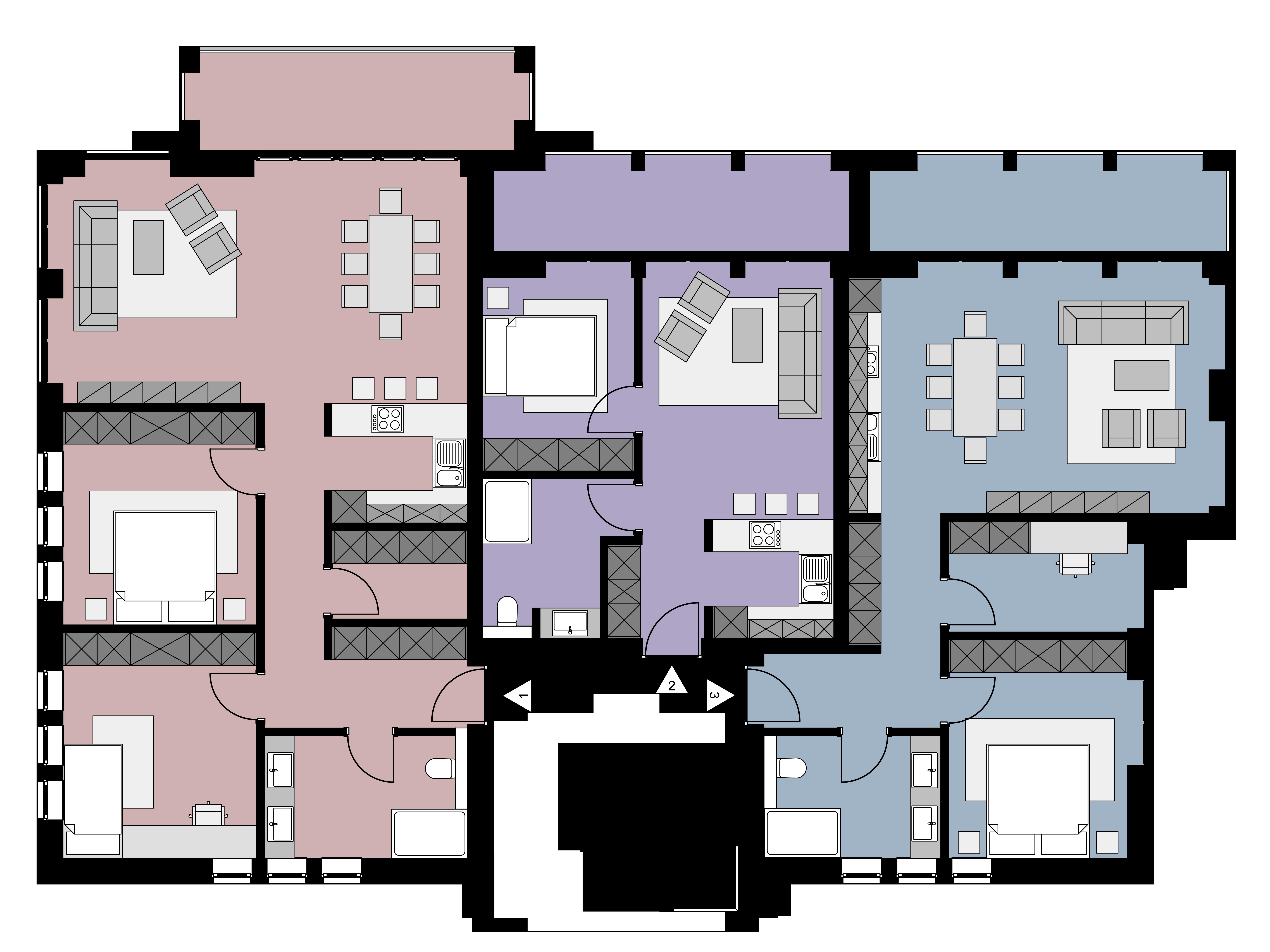 Erdgeschoss - Wohnungen 1 - 3